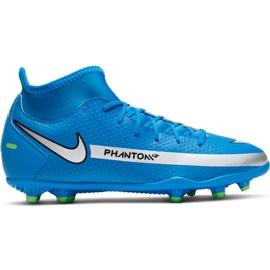 Buty piłkarskie Nike Phantom Gt Club Df FG/MG Jr CW6727-400 wielokolorowe niebieskie