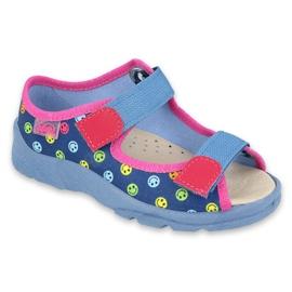 Befado obuwie dziecięce  869X150 niebieskie różowe wielokolorowe