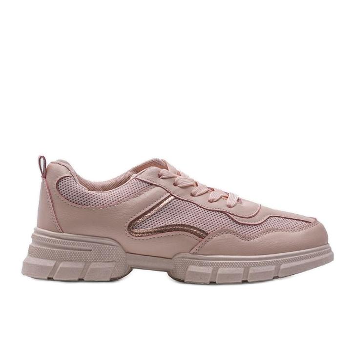 Różowe sneakersy sportowe 3157