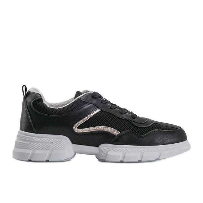 Czarne sneakersy sportowe 3157