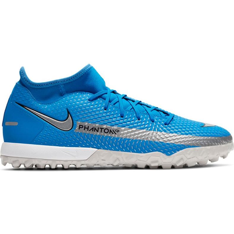 Buty piłkarskie Nike Phantom Gt Academy Df Tf niebieskie CW6666 400