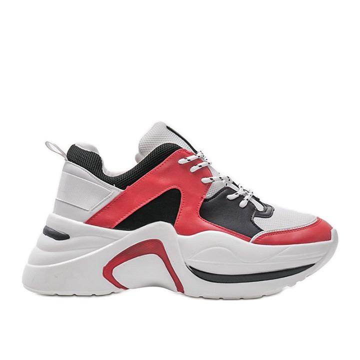 Czerwone sneakersy Thenisse białe czarne