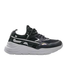 Czarne sneakersy sportowe Lativia szare