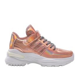 Różowe sneakersy holograficzne lollypop