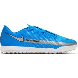 Buty piłkarskie Nike Phantom Gt Academy Tf CK8470 400 niebieskie niebieskie