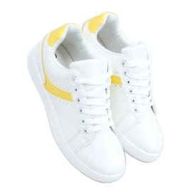 Trampki damskie białe 999-52 Yellow żółte