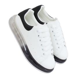 Trampki na podeszwie ombre N03 WHITE/BLACK białe czarne