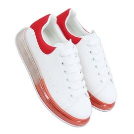Trampki na podeszwie ombre N03 WHITE/RED białe czerwone