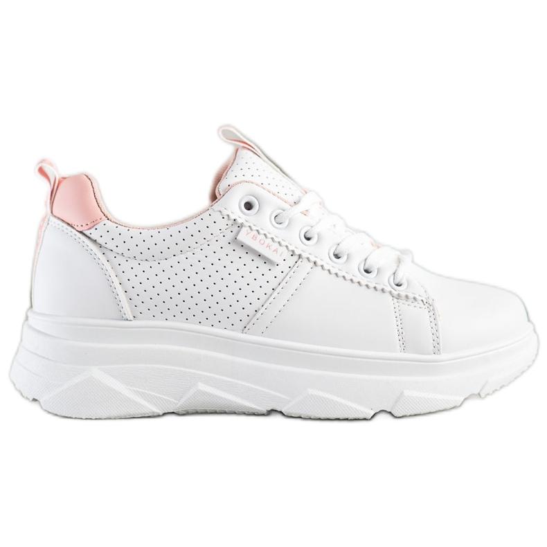 SHELOVET Sneakersy Na Białej Platformie Nice
