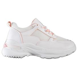 SHELOVET Wygodne Białe Sneakersy