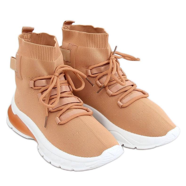 Buty sportowe za kostkę karmelowe JH-25 Camel brązowe