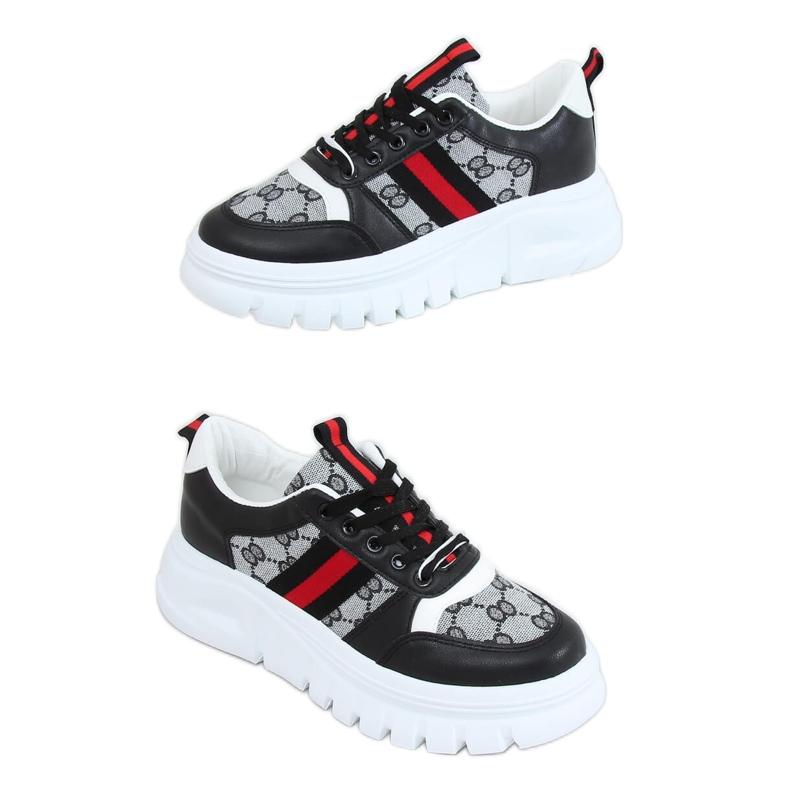 Designerskie buty sportowe czarne 205081 Black wielokolorowe