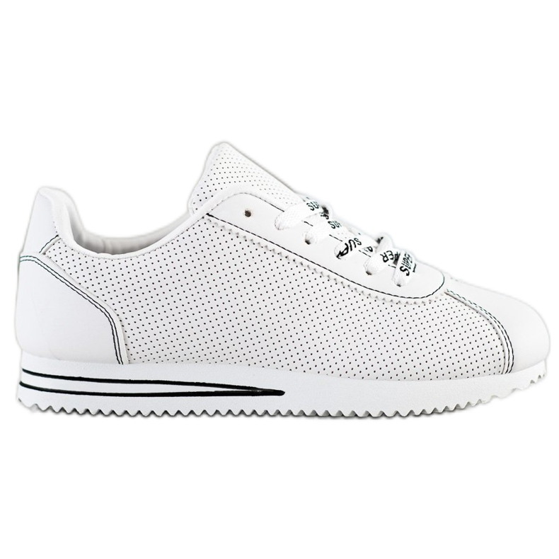 SHELOVET Ażurowe Sneakersy Super białe