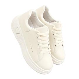 Buty na wysokiej podeszwie beżowe LA158 Beige beżowy