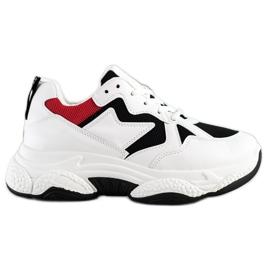 Fashion Wygodne Sneakersy białe wielokolorowe