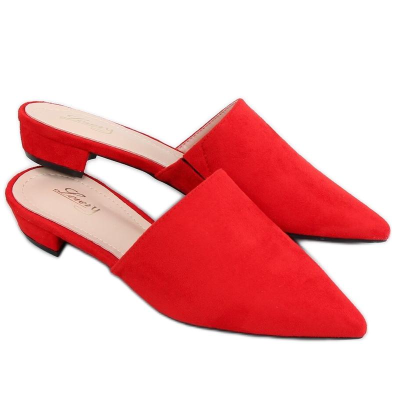 Klapki migdałowe noski czerwone MM-799 Red