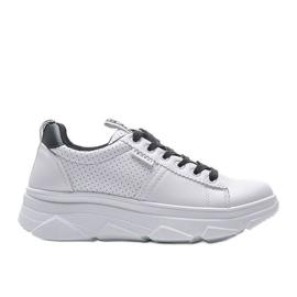Biało czarne sneakersy sportowe BO-529