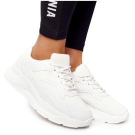 FB2 Damskie Sneakersy Na Dużej Podeszwie Białe Delusion