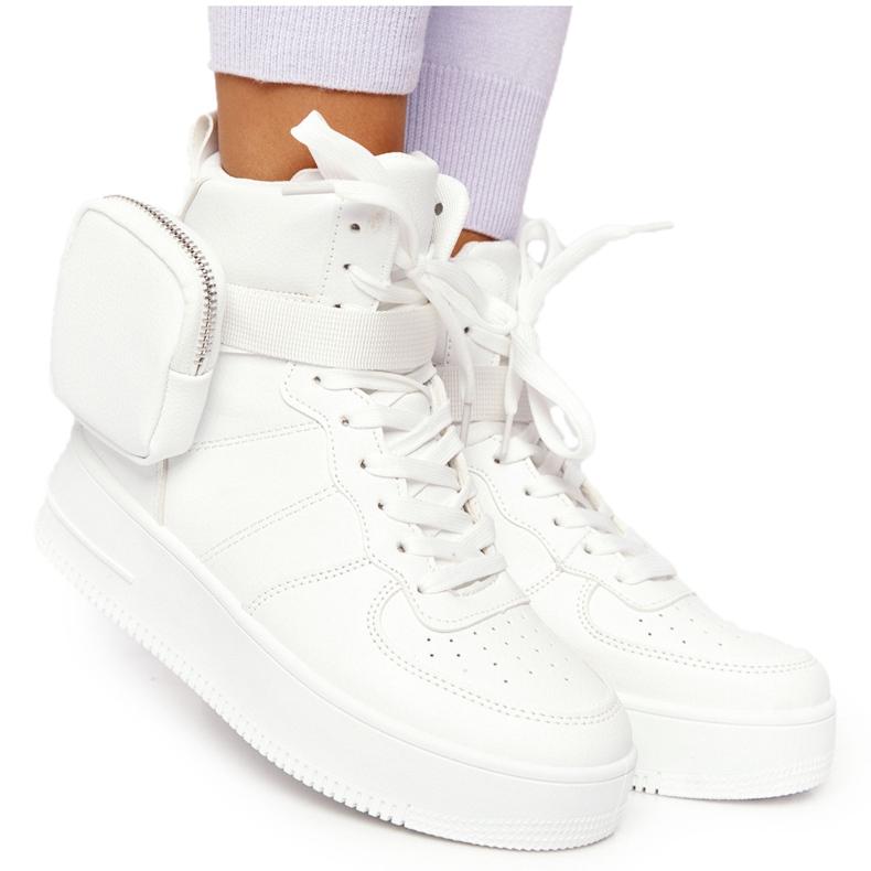 Damskie Sportowe Buty Na Platformie Z Nerką Białe Alexis