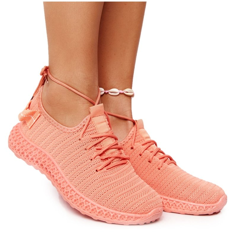 PS1 Damskie Sportowe Buty Slip-on Koralowe Do It pomarańczowe różowe
