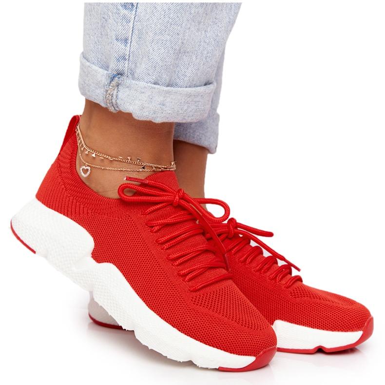 Damskie Sportowe Buty Slip-on Big Star DD274580 Czerwone