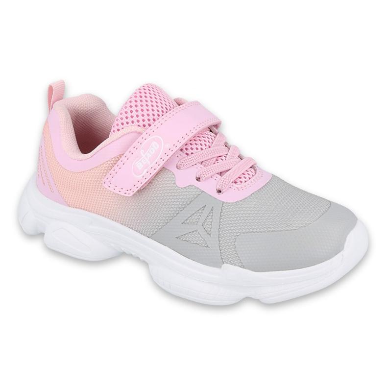 Befado obuwie dziecięce  516Y055 różowe szare
