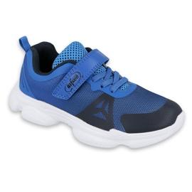 Befado obuwie młodzieżowe  516Q056 czarne niebieskie