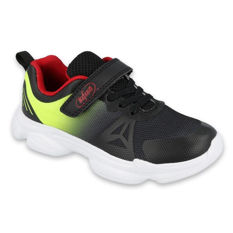 Befado obuwie młodzieżowe  516Q057 czarne czerwone zielone