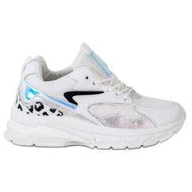 SHELOVET Wygodne Sneakersy Fashion białe