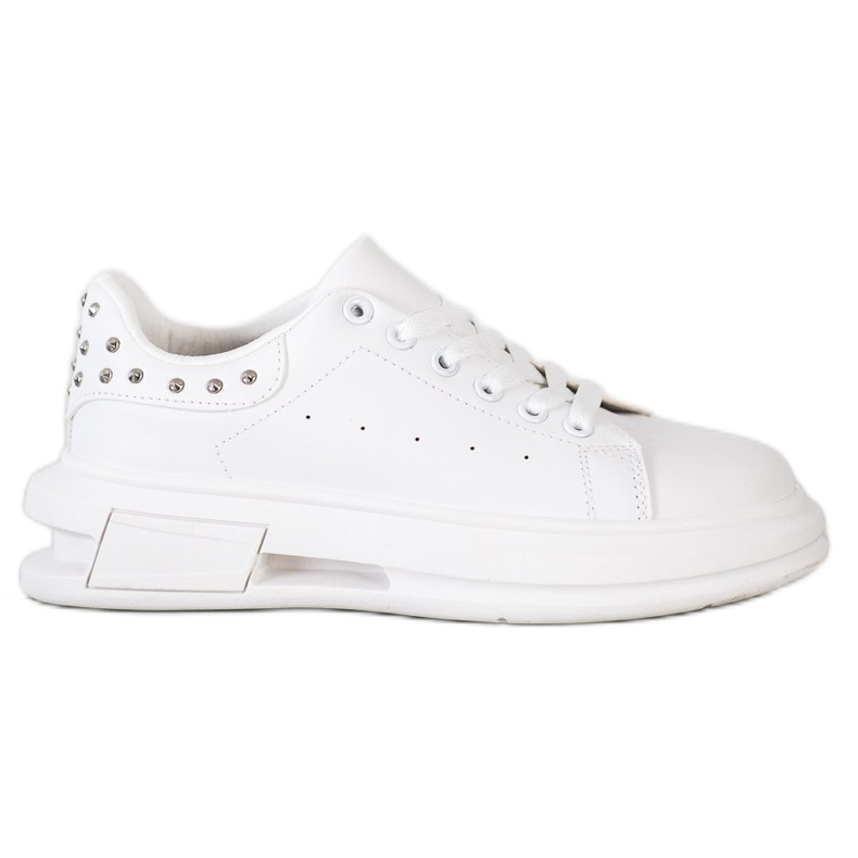 SHELOVET Sneakersy Z Ćwiekami białe