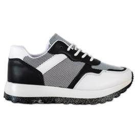 Bestelle Sneakersy Z Brokatową Platformą białe czarne