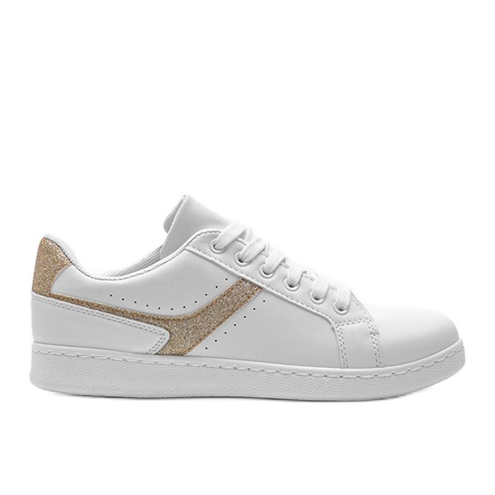 Biało złote tenisówki sportowe Alma białe