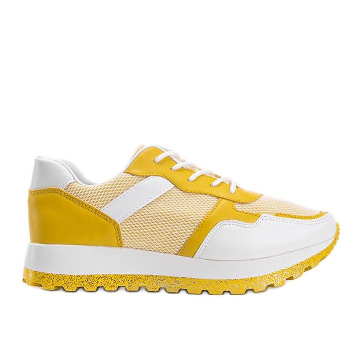 Żółte sneakersy sportowe Antonia