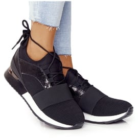 FB2 Damskie Sportowe Buty Sneakersy Czarne Netta