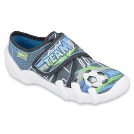 Befado obuwie dziecięce 273Y317 niebieskie szare wielokolorowe zielone