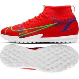 Buty piłkarskie Nike Mercurial Superfly 8 Academy Tf Jr CV0789 600 czerwone czerwone