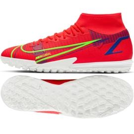 Buty piłkarskie Nike Mercurial Superfly 8 Academy Tf M CV0953 600 czerwone czerwone