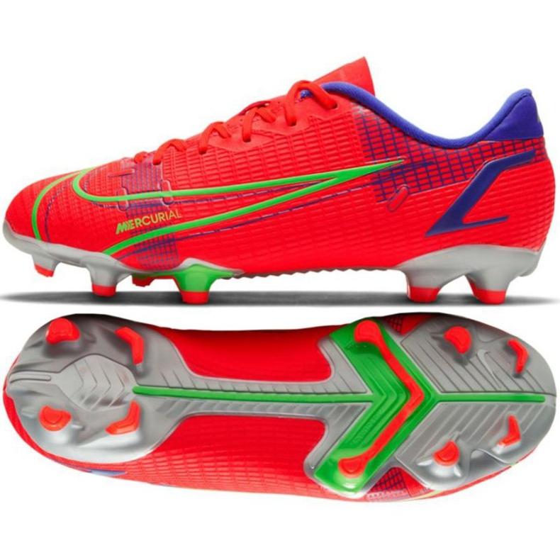 Buty piłkarskie Nike Vapor 14 Academy FG/MG Jr CV0811 600 czerwone czerwone