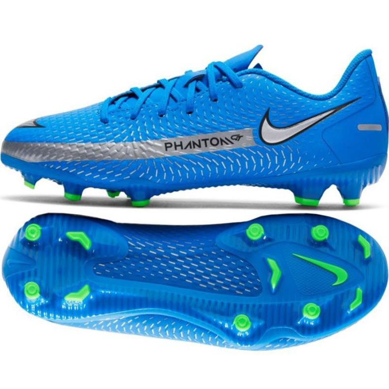Buty piłkarskie Nike Phantom Gt Academy FG/MG Jr CK8476 400 niebieskie niebieskie