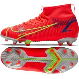 Buty piłkarskie Nike Mercurial Superfly 8 Academy Mg Jr CV1127 600 czerwone czarne