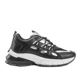 Czarne sneakersy z srebrnymi wstawkami Guadalupe