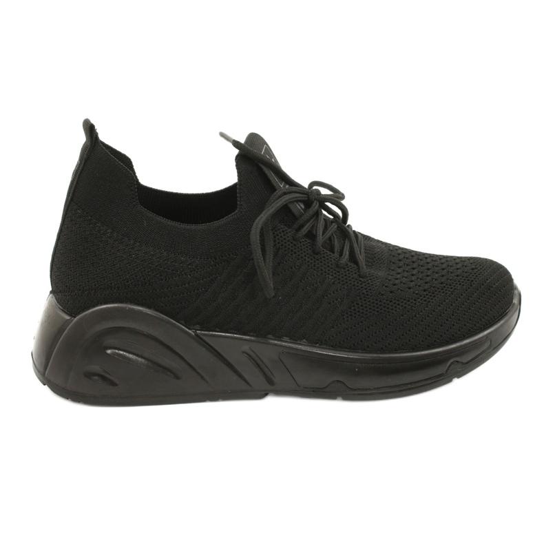 Evento Buty Sportowe wsuwane 21TX02-3674 czarny czarne
