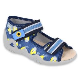 Befado żółte obuwie dziecięce  350P020 niebieskie