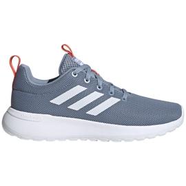 Buty do biegania adidas Lite Racer Cln K szare FV9607 białe niebieskie pomarańczowe