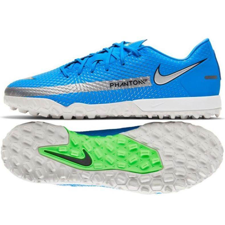 Buty piłkarskie Nike Phantom Gt Academy Tf M CK8470 400 niebieskie niebieskie