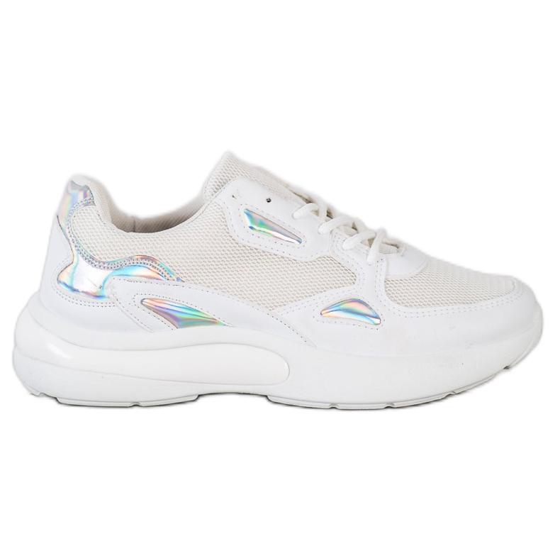 Creamberry'S Sneakersy Z Wstawkami Holo białe wielokolorowe