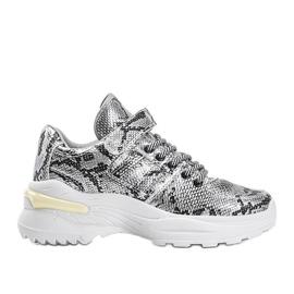 Srebrne sneakersy snake Lollypop srebrny