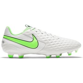 Buty piłkarskie Nike Tiempo Legend 8 Academy FG/MG AT5292 030 białe niebieskie