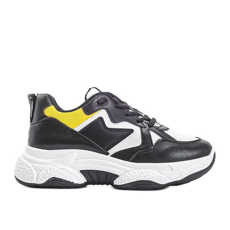 Białe sneakersy sportowe Aubrie czarne