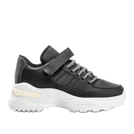 Czarne sneakersy sportowe Lollypop